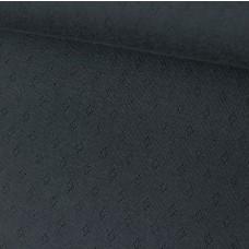 Ajour-Jersey schwarz 65 cm Reststück