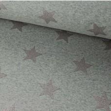 Glitzersterne grau auf grau Alpenfleece