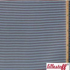 Bio-Bündchen Streifen glatt braun-hellblau