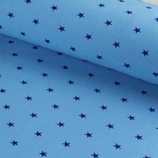 Bündchen Sterne hellblau