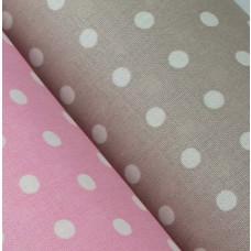 Baumwolle beschichtet Punkte beige 50 x 75 cm Stück