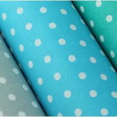 Baumwolle beschichtet Punkte hellblau 50 x 75 cm Stück