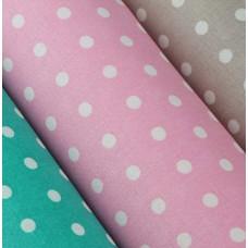 Baumwolle beschichtet Punkte rosa 50 x 75 cm Stück
