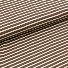 Streifen braun beige Stoffonkel Bio-Stretchjersey