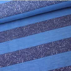 Blockstreifen grafisch blau Stretchsweat