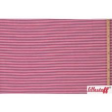Ringel rot-weiß Biojersey Lillestoff
