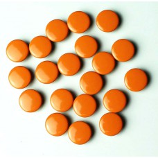 Jersey Druckknöpfe geschlossen orange