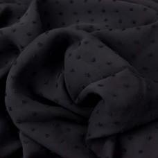 Chiffon Dots schwarz