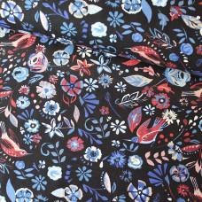Flowers blue Jersey