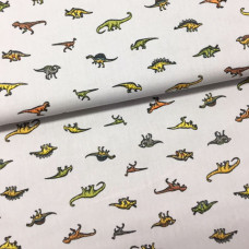 Mini Dinos Baumwoll Webstoff