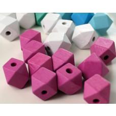"Holzperlen ""Diamant"" pink"
