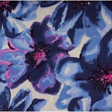 Viskosejersey Flowers blau