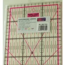 Patchwork Lineal 30 x 15 cm pink