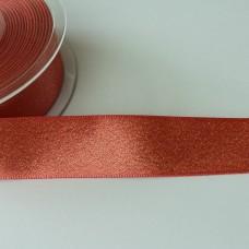 Glitzer-Satinband 25mm apricot