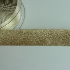 Glitzer-Satinband 25mm creme