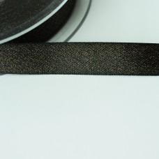 Glitzer-Satinband 15mm schwarz