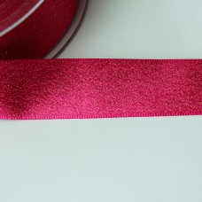 Glitzer-Satinband 25mm pink