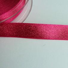 Glitzer-Satinband 15mm pink