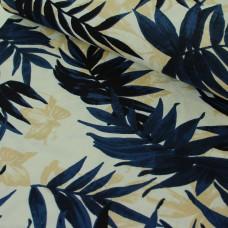 Viskose Leinen Blätter 65 cm Reststück
