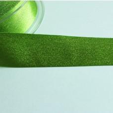 Glitzer-Satinband 25mm hellgrün