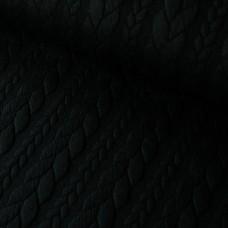 Zopfstrick Jacquard schwarz 80 cm Reststück
