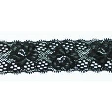 Spitzenband elastisch 35 mm schwarz