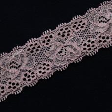 Spitzenband elastisch 35 mm hellrosa