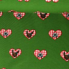 Bavarian Heart grün/rot
