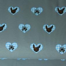 Bavarian Heart grau/hellblau