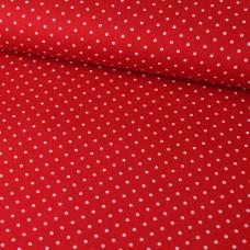 Pünktchen auf rot Baumwoll Webstoff