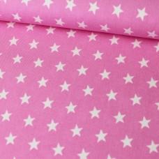Sterne auf rosa Baumwoll Webstoff