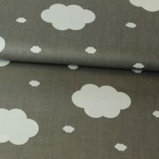 Wolken grau Baumwoll Webstoff