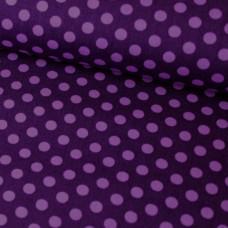 Punkte auf lila Baumwoll Webstoff