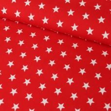 Sterne auf rot Baumwoll Webstoff