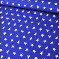 Sterne auf blau Baumwoll Webstoff