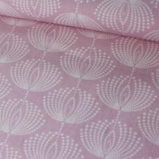 Gütermann Punkteblumen rosa Baumwoll Webstoff