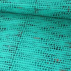 Muster auf smaragd Baumwoll Webstoff