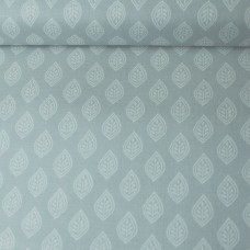 Isabelle Leaf grey Baumwoll Webstoff 23 cm Reststück
