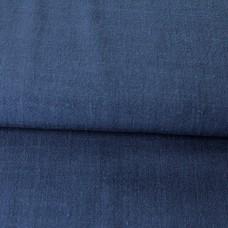 Viskose Leinen Stretch blau