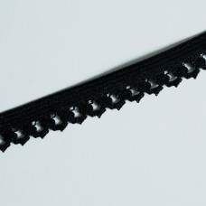 Rüschengummi 18 mm schwarz