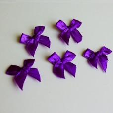 5 Schleifchen lila