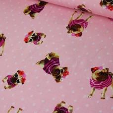 Mops rosa Jersey