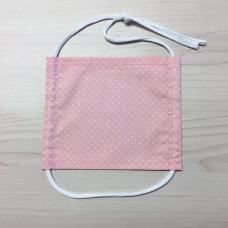 Stoffmaske Kinder Dots rosa