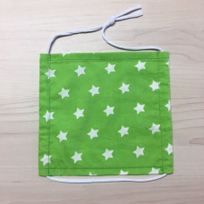 Stoffmaske Erwachsene Sterne grün