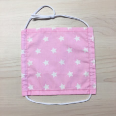 Stoffmaske Erwachsene Sterne rosa