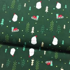 Weihnachtsmann Baumwoll Webstoff