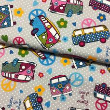 Canvas Hippie Bus