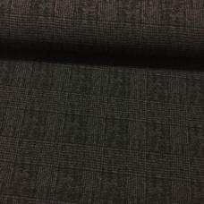 Elastik Webstoff Checks schwarz-grau