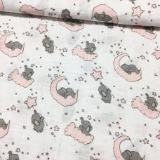 Musselin Elefanten rosa