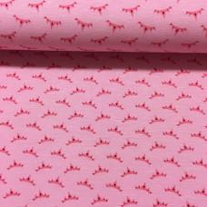 Kronen auf rosa Stretchjersey